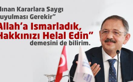 Özhaseki'den, Belediye Başkanlarının İstifasına İlişkin Açıklama