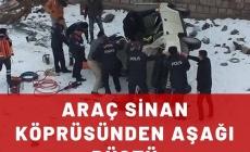 Araç Sinan Köprüsünden Aşağı Düştü