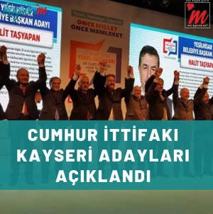 Cumhur İttifakı Kayseri Adayları Açıklandı