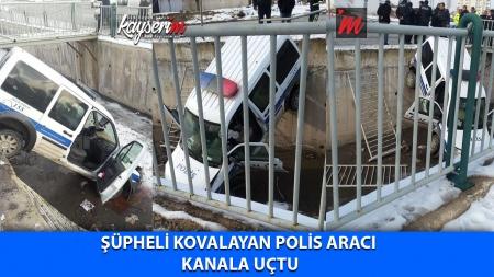 Şüpheli Kovalayan Polis Aracı Kanala Uçtu