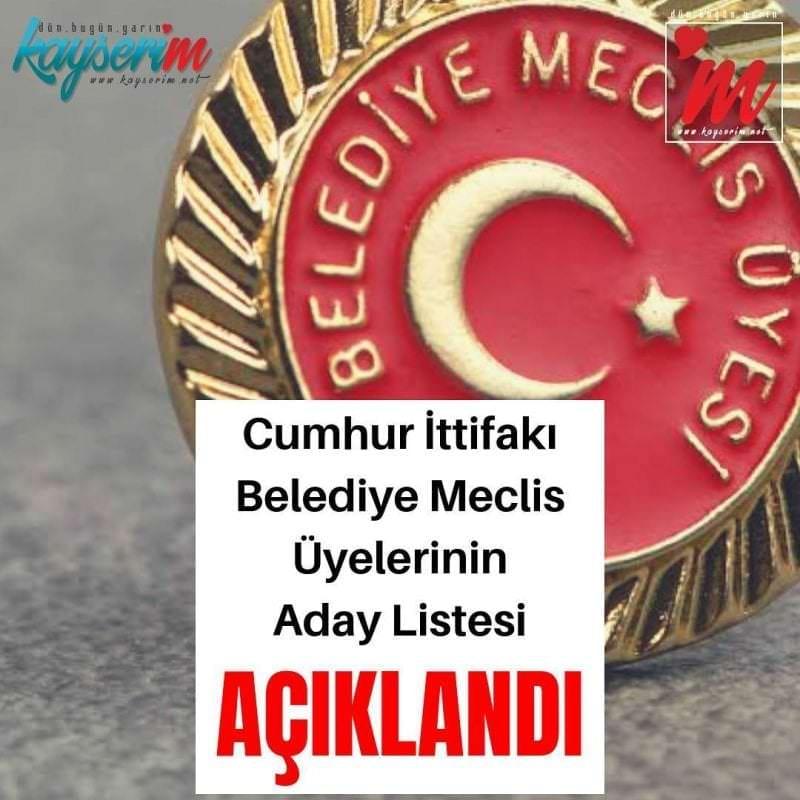 Cumhur İttifakı Belediye Meclis Üyelerinin Listesi Açıklandı