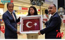 1500 Kayseri Mantısından Türk Bayrağı