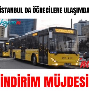 İstanbulda Öğrecilere Ulaşımda İndirim Müjdesi