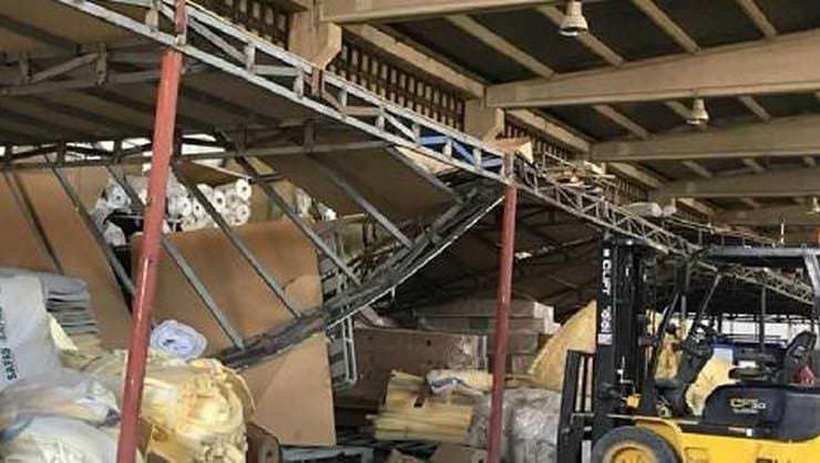 Çelik Konstrüksiyon Üzerine Düşen İşçi Yaralandı