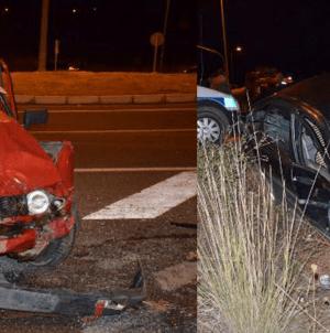 Kayserde 2 Otomobil Çarpıştı 4 Yaralı